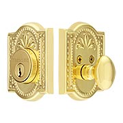 Meadows Style Single-Cylinder Deadbolt - 2 3/8