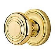 Classic Rosette Door Set with Streamline Deco Knobs (item #RS-01NW-CLADECX)