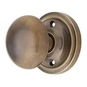 Classic Rosette Door Set with Solid Brass Knobs in Antique-By-Hand (item #RS-01NW-PROSEBX-ABH)