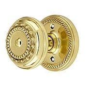 Rope Rosette Door Set With Meadows Door Knobs (item #RS-01NW-ROPMEAX)