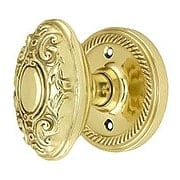 Rope Rosette Door Set With Decorative Oval Knobs (item #RS-01NW-ROPVICX)