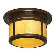 Berkeley Flush Mount Ceiling Light In Bronze Finish (item #RS-03AC-BCM-12X)