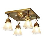 Ruskin 4 Light Flush Mount Fixture With 2 1/4