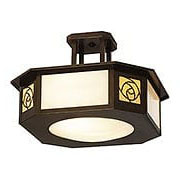 St. Clair Semi-Flush Ceiling Light In Bronze Finish (item #RS-03AC-SCCM-15-GWC-BZ)