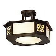 St. Clair Semi-Flush Ceiling Light In Bronze Finish (item #RS-03AC-SCCM-15-GWC-BZ)