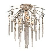 Bliss Three & One Light Semi Flush Ceiling in Topaz Leaf (item #RS-03CO-162-37X)