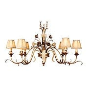 Tivoli Six Light Island Chandelier in Silver (item #RS-03CO-49-53X)