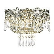 Majestic Crystal Wall Sconce In Historic Brass Finish (item #RS-03CR-1480-HB-CL-MWP)