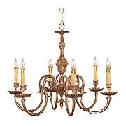 Novella 6 Light Chandelier In Olde Brass (item #RS-03CR-2606-OB)