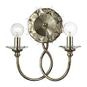 Willow Crystal Star Sconce In Antique Silver (item #RS-03CR-442-SA)