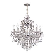 Maria Theresa Chandelier With Clear Crystals In Gold or Chrome Finishes (item #RS-03CR-4435X)