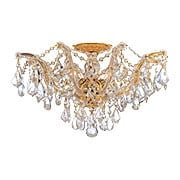 Maria Theresa Semi Flush Mount With Clear Crystals In Gold or Chrome Finishes (item #RS-03CR-4437X)