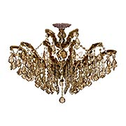 Maria Theresa 6-Light Semi Flush Mount Ceiling Light in Antique Brass (item #RS-03CR-4439-AB-GT-MWP-CEILING)