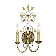 Primrose Wall Sconce With Gold Leaf Finish (item #RS-03CR-4702-GL)