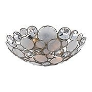 Palla Crystal and Shell Flush Mount In Antique Silver (item #RS-03CR-524-SA)