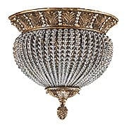 Roosevelt Gilt Iron Ceiling Light With Crystal Bead Accents (item #RS-03CR-6723-WP)