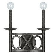 Odette Wrought Iron Sconce With English Bronze Finish (item #RS-03CR-9242-EB)