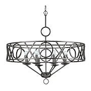 Odette Wrought Iron 8 Light Chandelier With English Bronze Finish (item #RS-03CR-9248-EB)