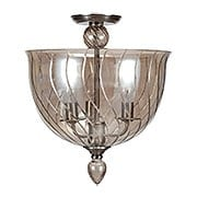 Harper Cognac Glass Ceiling Light With Chrome Accents (item #RS-03CR-9843-CH-CG)