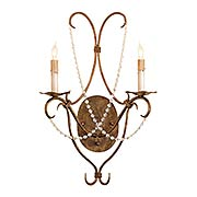 Crystal Lights 2-Light Wall Sconce (item #RS-03CU-5880)