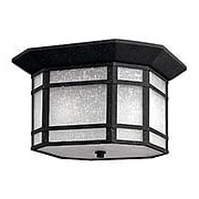 Cherry Creek Flush Ceiling Light in Vintage Black (item #RS-03HK-1273VK)