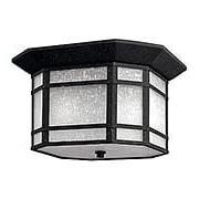 Cherry Creek Flush Ceiling Light in Vintage Black (item #RS-03HK-1273VK)