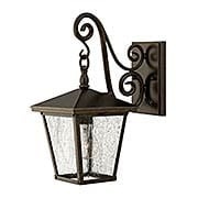 Trellis Small Outdoor Wall Lantern with Scrolls (item #RS-03HK-1430X)