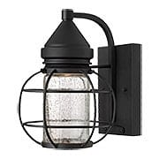 New Castle Small Outdoor Entry Light With Halogen Lamping (item #RS-03HK-2250BK)