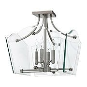 Wingate 4 Light Semi Flush With Clear Beveled Glass (item #RS-03HK-3001X)