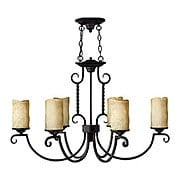 Casa Oblong 6 Light Chandelier In Olde Black (item #RS-03HK-3508OL)