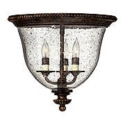 Rockford 3 Light Flush Mount In Forum Bronze (item #RS-03HK-3712FB)