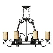 Casa 8 Light Island Pendant & Pot Rack in Olde Black (item #RS-03HK-4016OL)