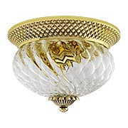 Plantation Flush Mounted Ceiling Light With Clear Optic Glass (item #RS-03HK-4102X)