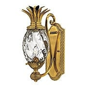 Plantation Pineapple Wall Sconce With Clear Optic Glass (item #RS-03HK-4140X)