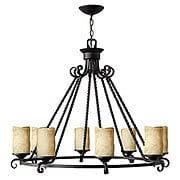Casa 8 Light Candle Chandelier in Olde Black (item #RS-03HK-4308OL)