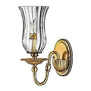 Cambridge Single Sconce With Clear Optic Glass Shade (item #RS-03HK-4640BB)