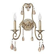 Carlton 2 Light Sconce With Silver Leaf Finish (item #RS-03HK-4772SL)