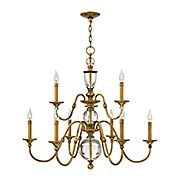 Eleanor Two Tier 9-Light Chandelier (item #RS-03HK-4958HBX)