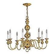 Virginian Brass Chandelier With 8 Lights (item #RS-03HK-5128X)