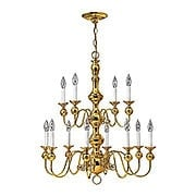 Virginian Two Tier Brass Chandelier With 12 Lights (item #RS-03HK-5129X)