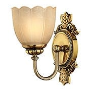 Isabella Single Sconce With Stone Glass Shade (item #RS-03HK-5390X)