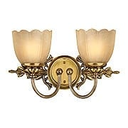 Isabella Two Light Bath Sconce With Stone Glass Shades (item #RS-03HK-5392X)