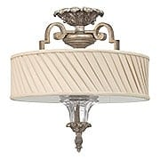 Kingsley Semi-Flush Ceiling Light In Silver Leaf Finish (item #RS-03HK-FR42721SLF)