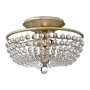 Caspia Flush Mount Ceiling Light In Silver Leaf Finish (item #RS-03HK-FR43751SLF)
