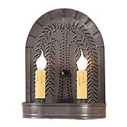 Willow Pattern Sconce With Blackened Tin Finish (item #RS-03IW-9WLWBT)