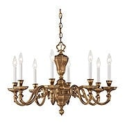 Casoria Dutch Baroque Chandelier With 8 Lights (item #RS-03ML-N1115X)