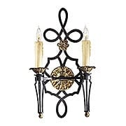 Montparnasse 2 Light Candle Sconce In French Black Finish (item #RS-03ML-N2100-20)