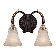Bella Cristallo 2-Light Bath Sconce (item #RS-03ML-N2692-258B)