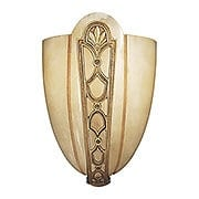 Genuine Alabaster & Brass Sconce With French Gold Finish (item #RS-03ML-N950166)