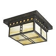 Chicago Flush Mount Fixture In Weathered Bronze Finish (item #RS-03PL-P3513-46)